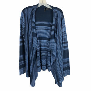 New Directions Large Cardigan Sweater Blue 861